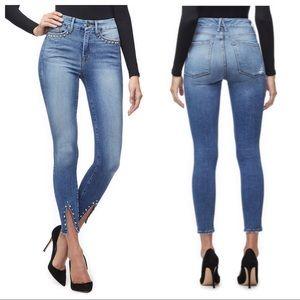 Good American Good Legs jeans crop studded